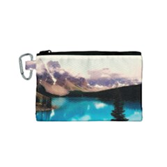 Austria Mountains Lake Water Canvas Cosmetic Bag (small)