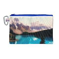 Austria Mountains Lake Water Canvas Cosmetic Bag (large)
