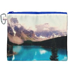 Austria Mountains Lake Water Canvas Cosmetic Bag (xxxl)