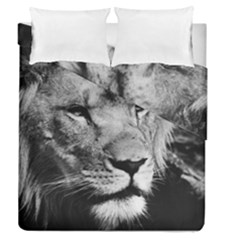 Africa Lion Male Closeup Macro Duvet Cover Double Side (queen Size) by BangZart