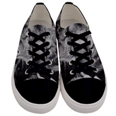 Africa Lion Male Closeup Macro Men s Low Top Canvas Sneakers