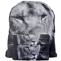Africa Lion Male Closeup Macro Giant Full Print Backpack by BangZart