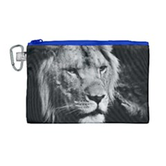 Africa Lion Male Closeup Macro Canvas Cosmetic Bag (large)