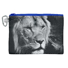 Africa Lion Male Closeup Macro Canvas Cosmetic Bag (xl)