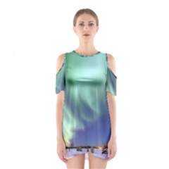 Aurora Borealis Alaska Space Shoulder Cutout One Piece