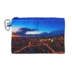 The Hague Netherlands City Urban Canvas Cosmetic Bag (large)