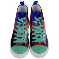 South Africa Sea Ocean Hdr Sky Women s Mid Top Canvas Sneakers