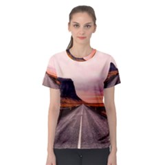 Iceland Sky Clouds Sunset Women s Sport Mesh Tee