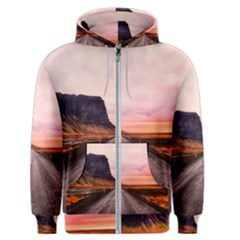 Iceland Sky Clouds Sunset Men s Zipper Hoodie by BangZart