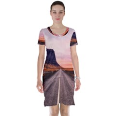 Iceland Sky Clouds Sunset Short Sleeve Nightdress