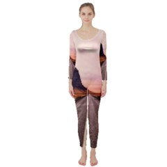 Iceland Sky Clouds Sunset Long Sleeve Catsuit
