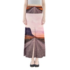 Iceland Sky Clouds Sunset Full Length Maxi Skirt