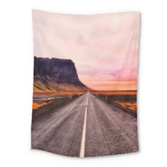 Iceland Sky Clouds Sunset Medium Tapestry