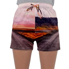 Iceland Sky Clouds Sunset Sleepwear Shorts