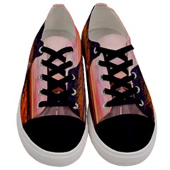 Iceland Sky Clouds Sunset Men s Low Top Canvas Sneakers