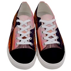 Iceland Sky Clouds Sunset Women s Low Top Canvas Sneakers