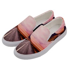 Iceland Sky Clouds Sunset Men s Canvas Slip Ons by BangZart