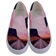 Iceland Sky Clouds Sunset Kids  Canvas Slip Ons