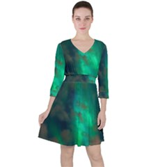 Northern Lights Plasma Sky Ruffle Dress