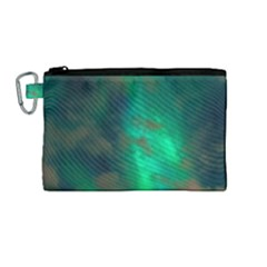 Northern Lights Plasma Sky Canvas Cosmetic Bag (medium)