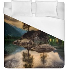 Sunset Dusk Sky Clouds Lightning Duvet Cover (king Size)