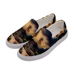 Sunset Dusk Sky Clouds Lightning Women s Canvas Slip Ons by BangZart