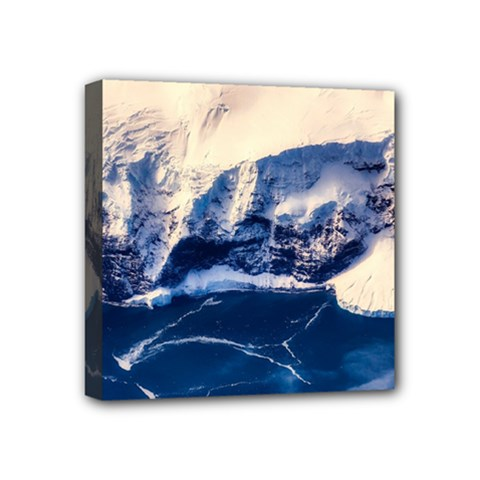 Antarctica Mountains Sunrise Snow Mini Canvas 4  x 4