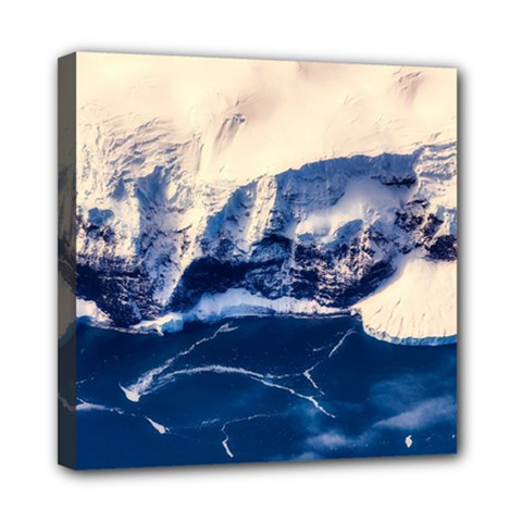 Antarctica Mountains Sunrise Snow Mini Canvas 8  x 8