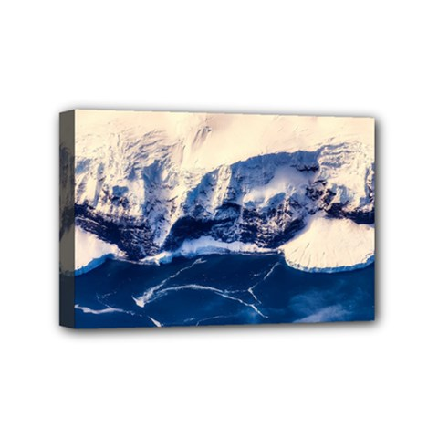 Antarctica Mountains Sunrise Snow Mini Canvas 6  x 4