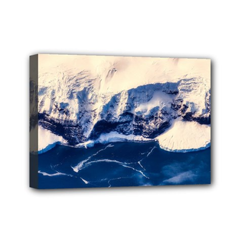 Antarctica Mountains Sunrise Snow Mini Canvas 7  x 5