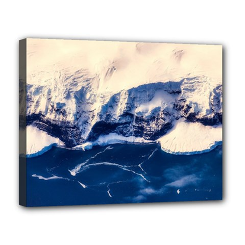 Antarctica Mountains Sunrise Snow Canvas 14  x 11