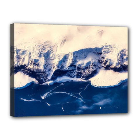 Antarctica Mountains Sunrise Snow Canvas 16  x 12