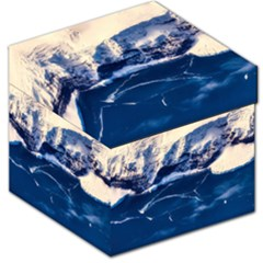Antarctica Mountains Sunrise Snow Storage Stool 12