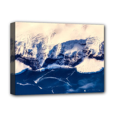 Antarctica Mountains Sunrise Snow Deluxe Canvas 16  x 12