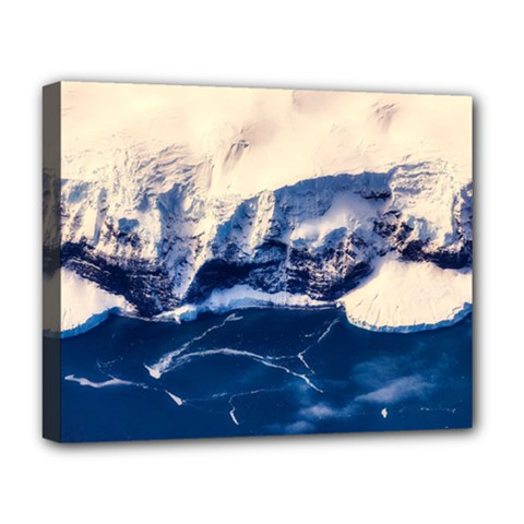 Antarctica Mountains Sunrise Snow Deluxe Canvas 20  X 16   by BangZart