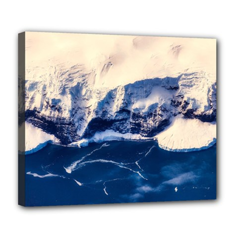 Antarctica Mountains Sunrise Snow Deluxe Canvas 24  x 20