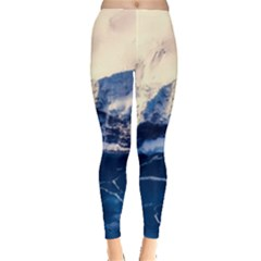 Antarctica Mountains Sunrise Snow Leggings
