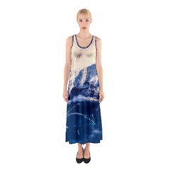 Antarctica Mountains Sunrise Snow Sleeveless Maxi Dress