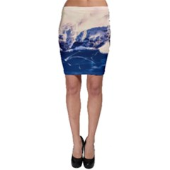 Antarctica Mountains Sunrise Snow Bodycon Skirt