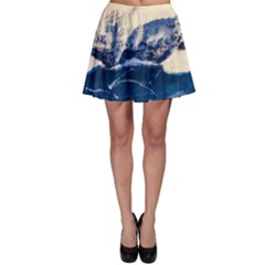 Antarctica Mountains Sunrise Snow Skater Skirt