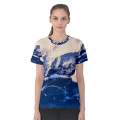 Antarctica Mountains Sunrise Snow Women s Cotton Tee