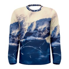 Antarctica Mountains Sunrise Snow Men s Long Sleeve Tee