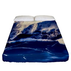 Antarctica Mountains Sunrise Snow Fitted Sheet (queen Size) by BangZart