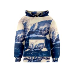 Antarctica Mountains Sunrise Snow Kids  Pullover Hoodie by BangZart