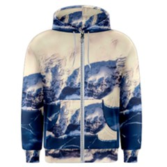 Antarctica Mountains Sunrise Snow Men s Zipper Hoodie