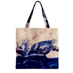 Antarctica Mountains Sunrise Snow Zipper Grocery Tote Bag
