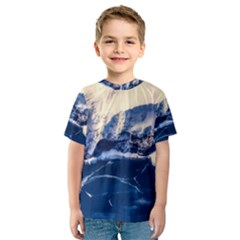 Antarctica Mountains Sunrise Snow Kids  Sport Mesh Tee