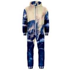 Antarctica Mountains Sunrise Snow Hooded Jumpsuit (Men)