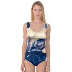Antarctica Mountains Sunrise Snow Princess Tank Leotard