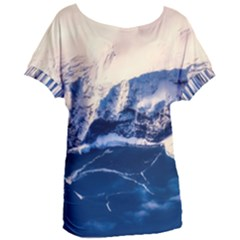 Antarctica Mountains Sunrise Snow Women s Oversized Tee